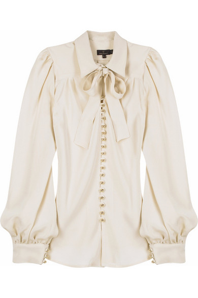 a666f03213fc3 Mulberry. Silk button front blouse