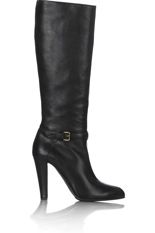 Miu Miu Leather buckle detail boots