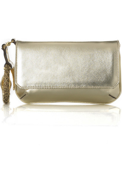 best service f3109 a2206 Metallic-leather bracelet clutch