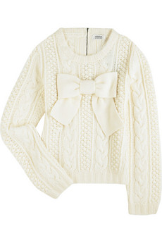 Sonia by Sonia Rykiel Bow front sweater