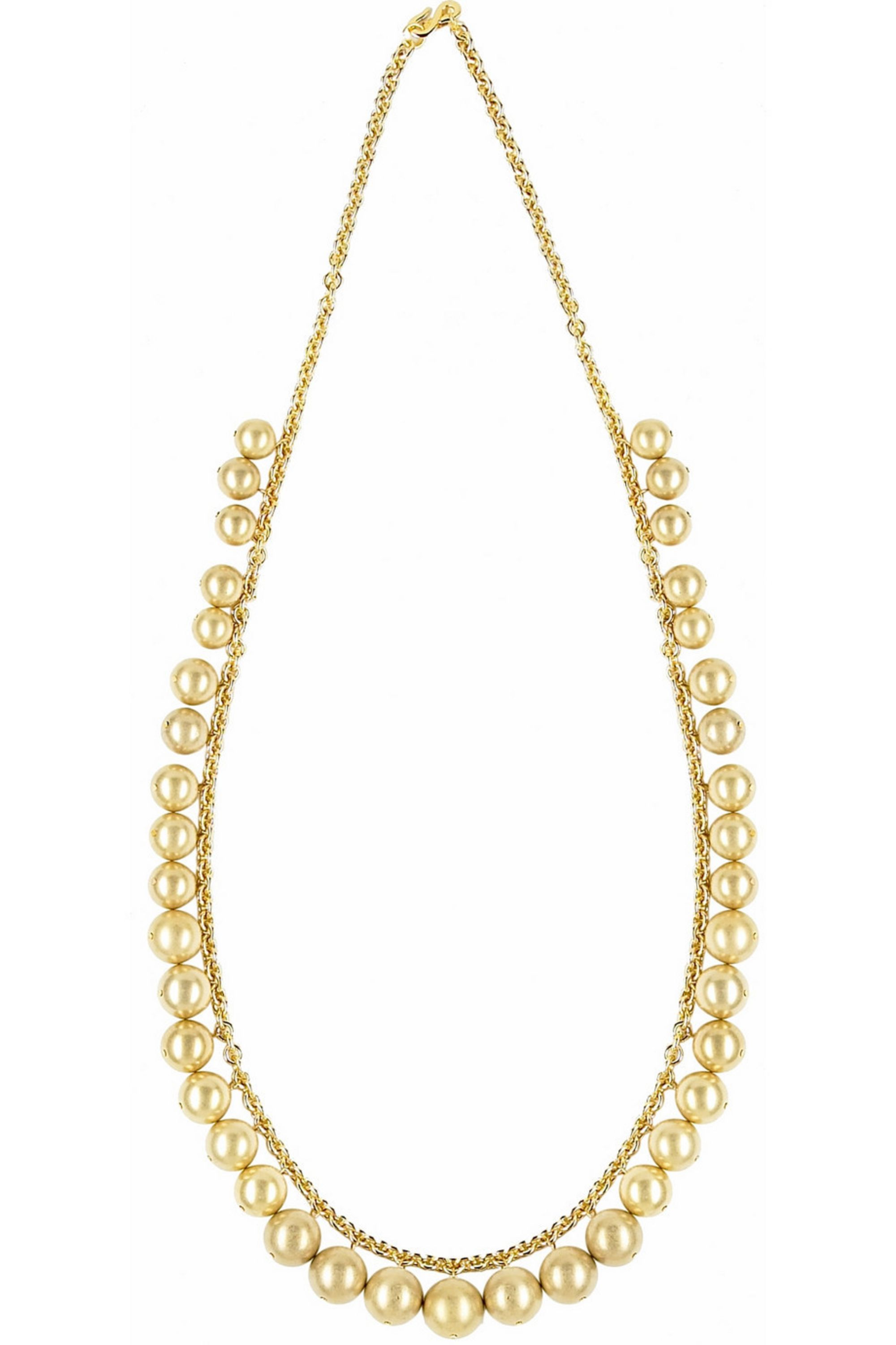 Gold Gold Beaded Necklace Kenneth Jay Lane Net A Porter