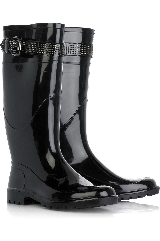 Black Wellington boots | Burberry Shoes