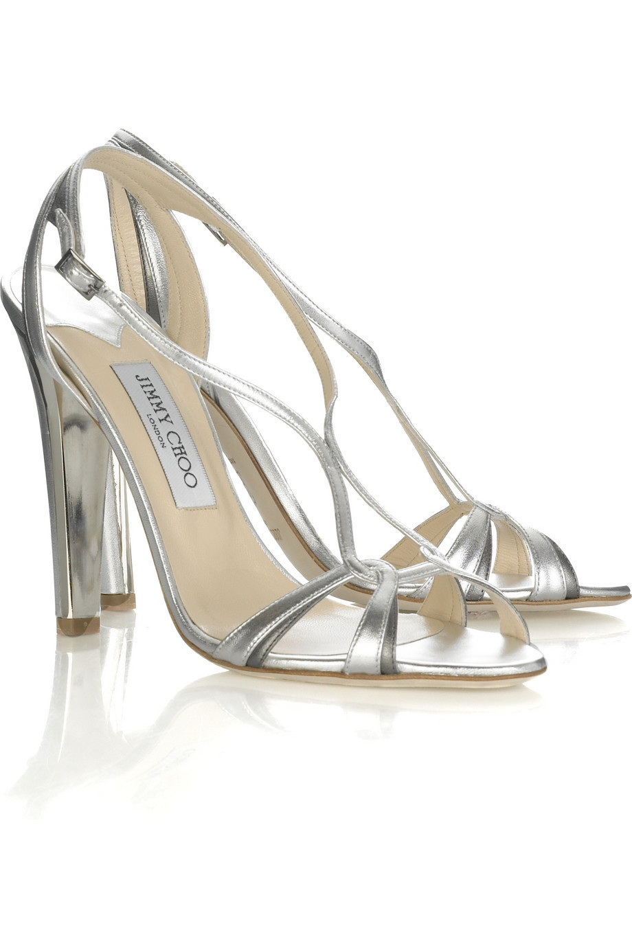 Jimmy Choo Leo metallic sandals | NET-A-PORTER.COM from net-a-porter.com