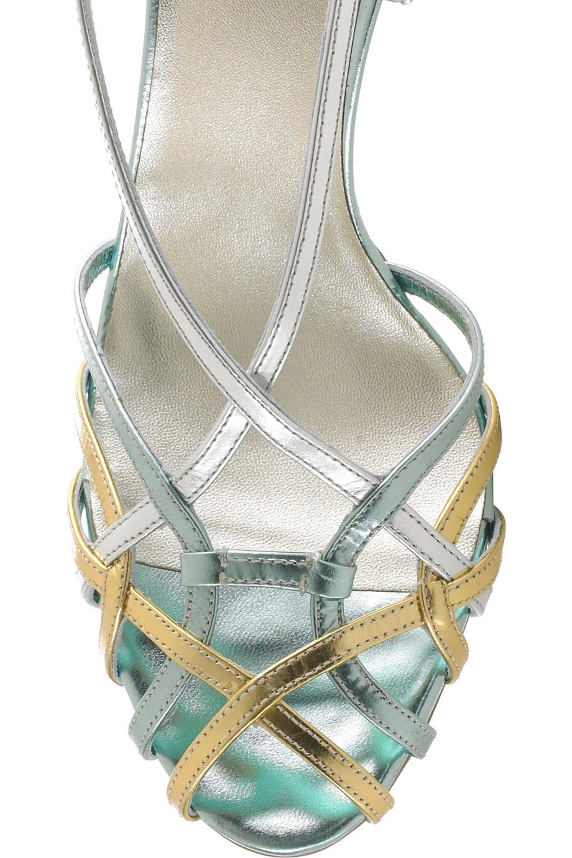 Miu Miu Strappy jeweled sandals