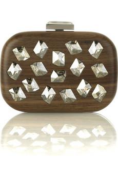 Devi Kroell Crystal wooden clutch | NET-A-PORTER.COM from net-a-porter.com