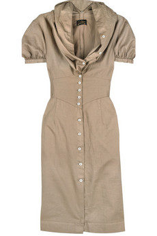 Vivienne Westwood Anglomania Fichu cotton dress | NET-A-PORTER.COM from net-a-porter.com