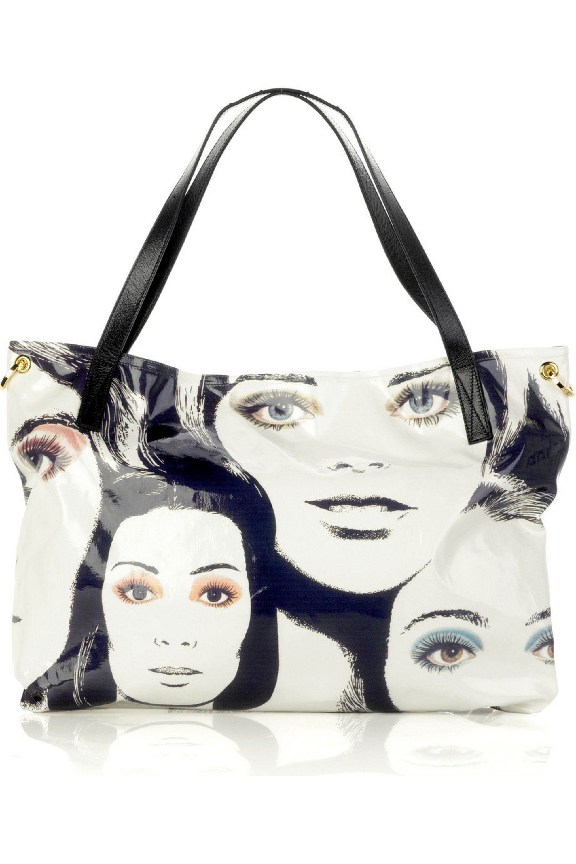 Jimmy Choo Polly glazed canvas bag