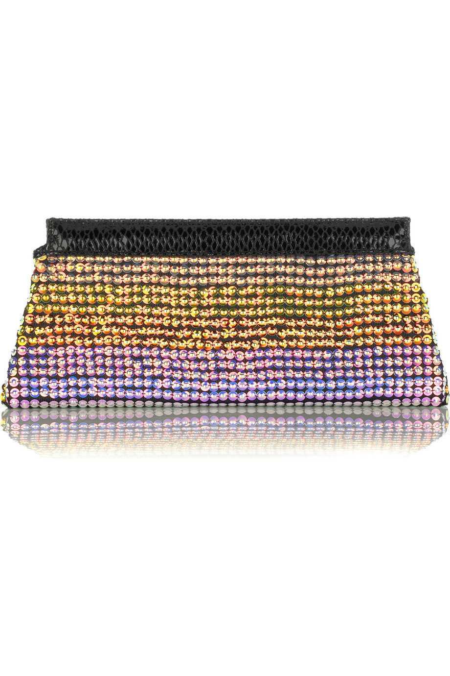 Matthew Williamson Atomic structured clutch  | NET-A-PORTER.COM from net-a-porter.com