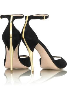 Miu Miu Brushed heel shoes | NET-A-PORTER.COM from net-a-porter.com