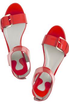 Chloé Patent wide strap sandals | NET-A-PORTER.COM