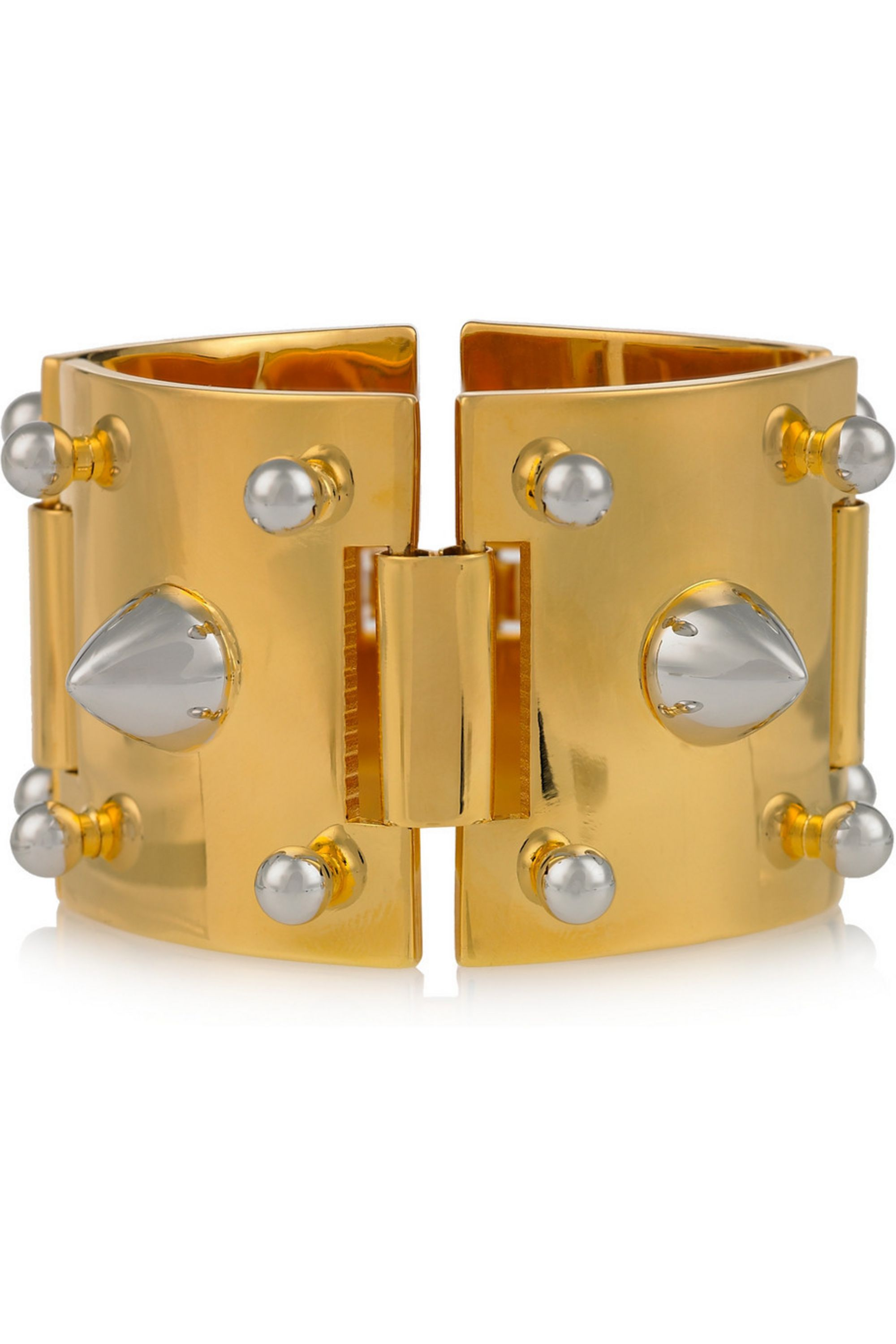 Eddie Borgo Gold-plated and silver-plated studded bracelet