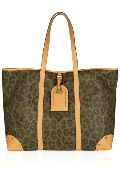 Mulberry Scotchgrain Leopard Print Leather Tote