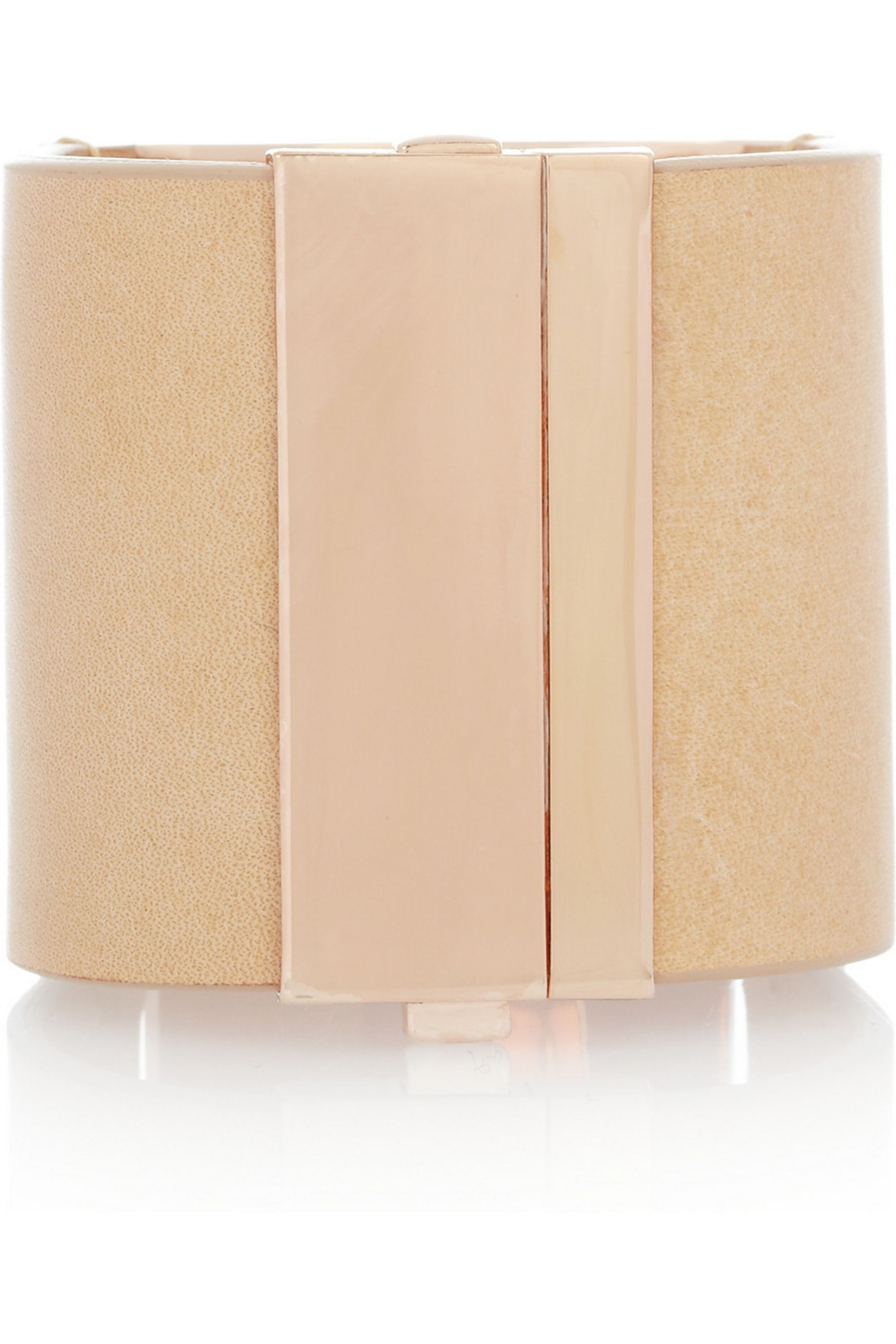 Maison Margiela Rose gold-plated and leather cuff