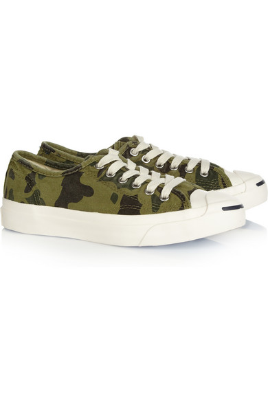 6c46829532920e Converse. Jack Purcell camouflage-print canvas sneakers