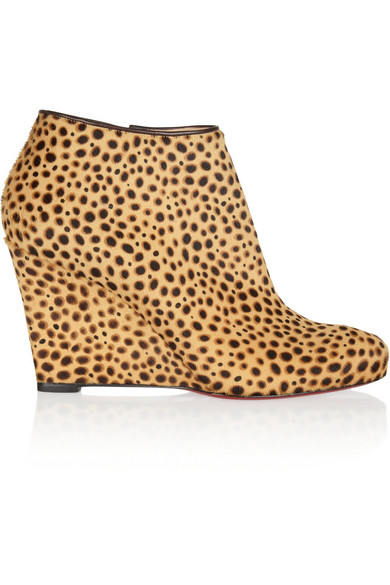 info for f736c 524b2 Belle Zeppa 85 printed calf hair ankle boots