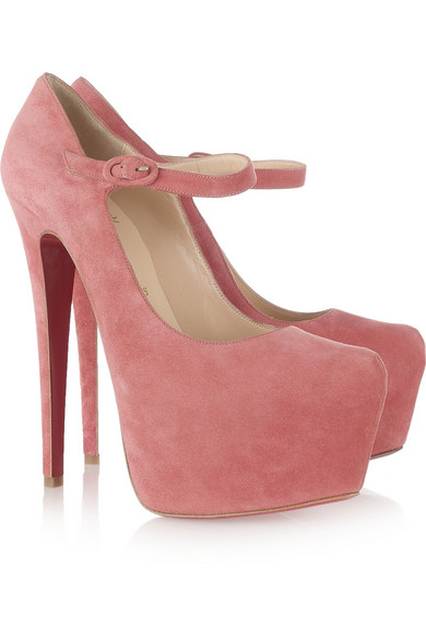 christian louboutin suede mary-jane pumps
