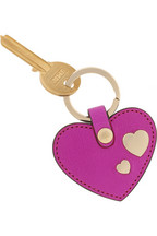 Mulberry Leather heart key fob