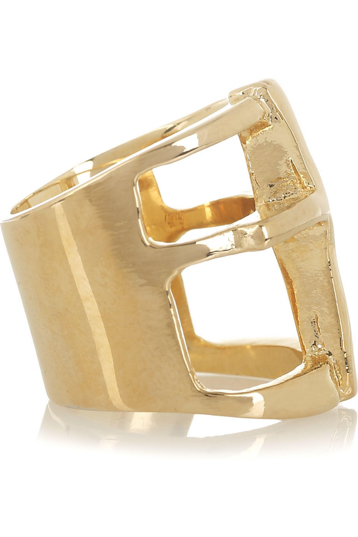 Pamela Love Gold-plated cross ring