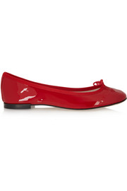 The Cendrillon patent-leather ballet flats