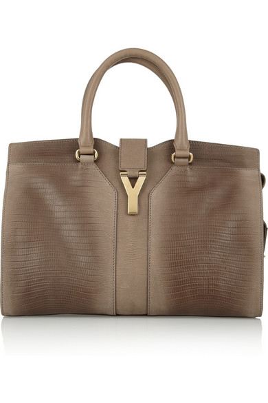 946a1a95c0 Yves Saint Laurent | Cabas Chyc Medium lizard-effect leather tote ...