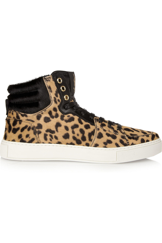 Yves Saint Laurent Malibu leopard-print calf-hair sneakers