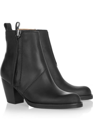 acne studios pistol leather ankle boots net a porter com. Black Bedroom Furniture Sets. Home Design Ideas