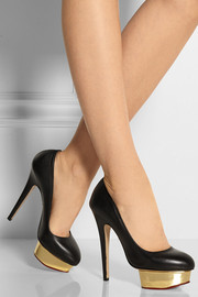 Charlotte Olympia The Dolly leather platform pumps
