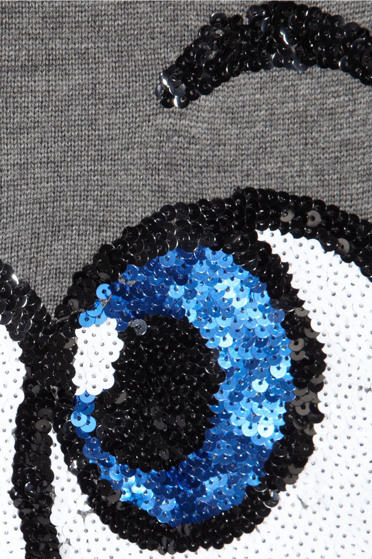 Markus Lupfer Pop Eyes sequined merino wool sweater