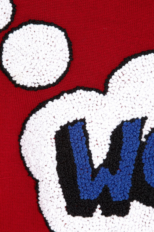 Markus Lupfer Wow! French knot merino wool sweater