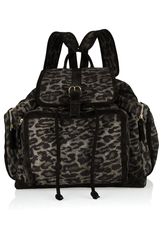 Pierre Hardy Leopard-print suede backpack