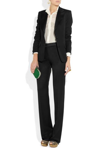 3bd56809f56 Yves Saint Laurent | Satin-trimmed wool tuxedo jacket | NET-A-PORTER.COM