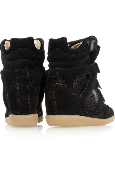 031803d3073e Isabel Marant. Bazil suede and snake-effect sneakers.  685. Zoom In