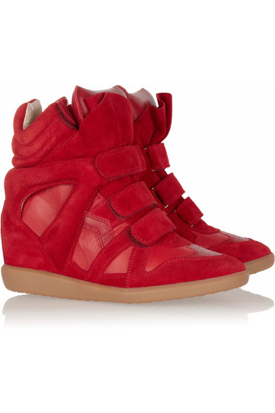 2a92c08a1f Isabel Marant | Bekett leather and suede sneakers | NET-A-PORTER.COM