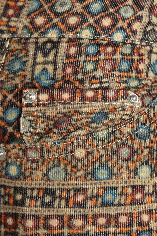 Isabel Marant Étoile Itzel printed corduroy skinny jeans