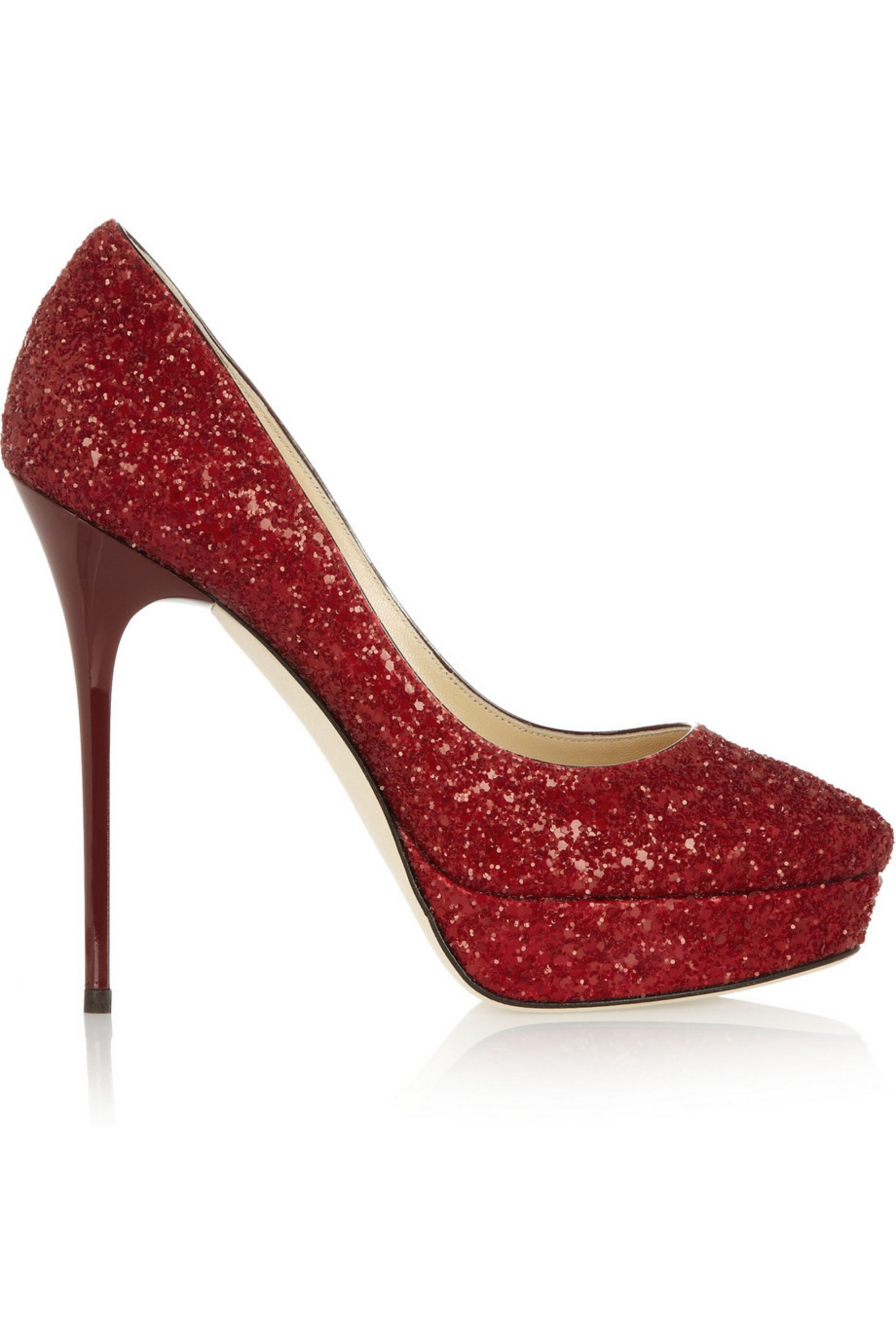Jimmy Choo Cosmic glitter-finished leather pumps