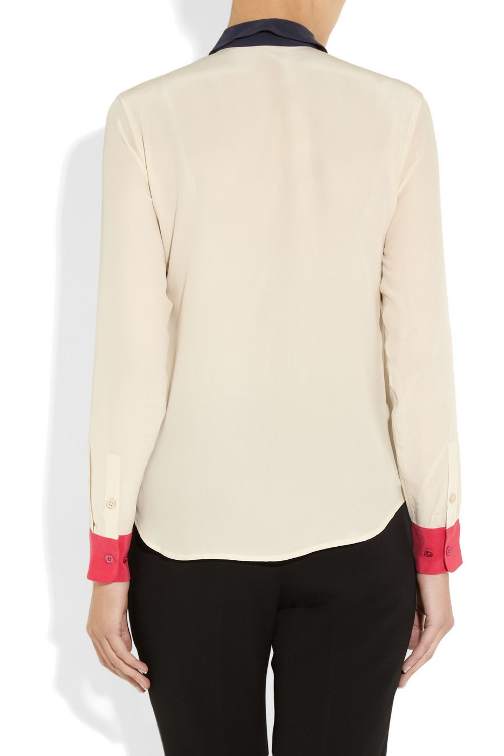 EQUIPMENT Sophie color-block washed-silk shirt