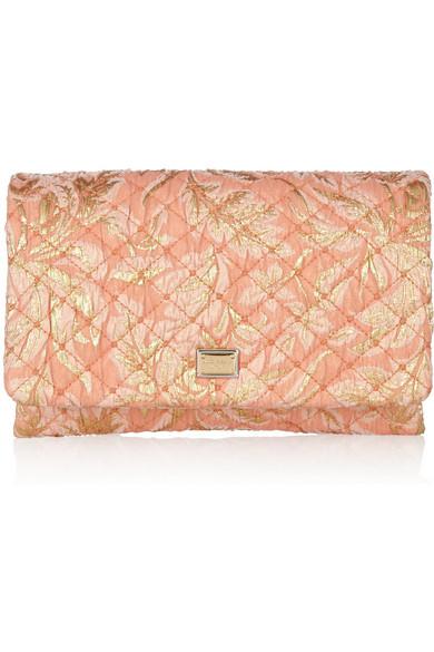 Dolce   Gabbana. Quilted jacquard clutch 3836f7b49eb