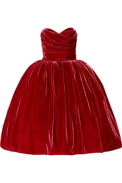 Sale alerts for Strapless velvet dress Dolce & Gabbana - Covvet