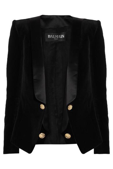 Sale alerts for Balmain Velvet and satin blazer - Covvet
