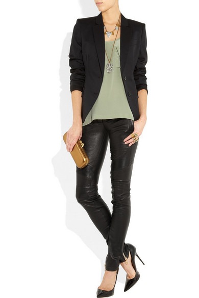 b28f29b09fe Balmain   Skinny leather pants   NET-A-PORTER.COM