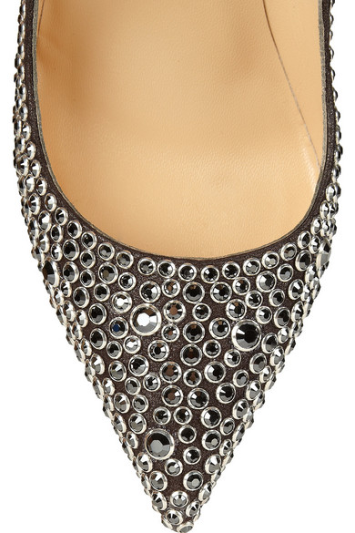 5940a72a4c9b Christian Louboutin. Pigalle 120 crystal-embellished suede pumps.   2
