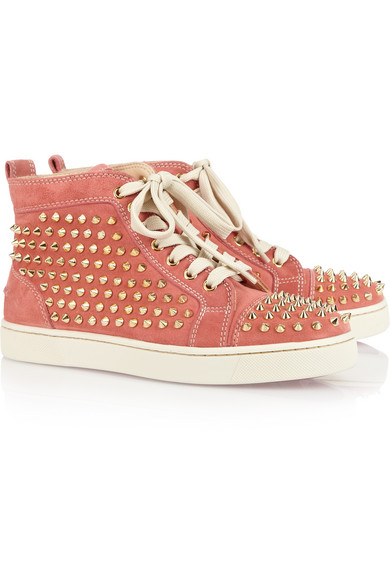 Christian Louboutin | Louis studded suede sneakers | NET-A-PORTER.COM