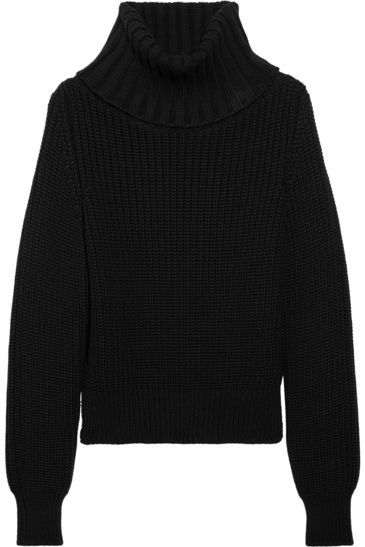 Black Chunky Knit Wool Turtleneck Sweater Antonio Berardi Net A Porter