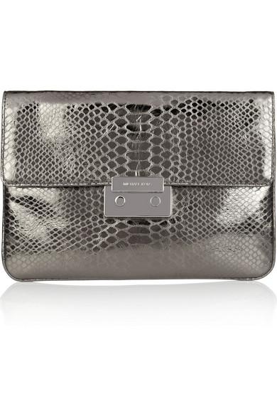 b367c88e4d8c MICHAEL Michael Kors | Sloan python-effect leather clutch | NET-A ...