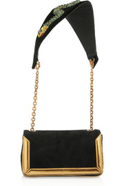 Christian Louboutin Artemis Medusa suede shoulder bag