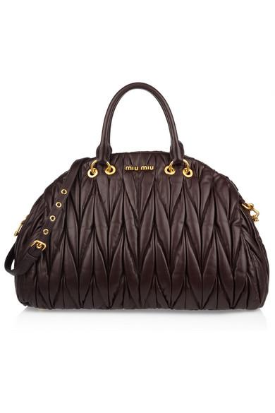 Sale alerts for Matelassé leather tote Miu Miu - Covvet