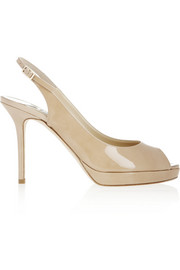 Jimmy Choo Nova patent-leather sandals