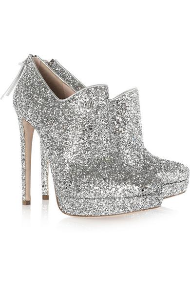 61261142158b Miu Miu. Glitter-finish leather ankle boots