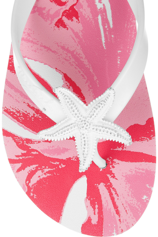 Miss Trish Seaspray rubber flip flops