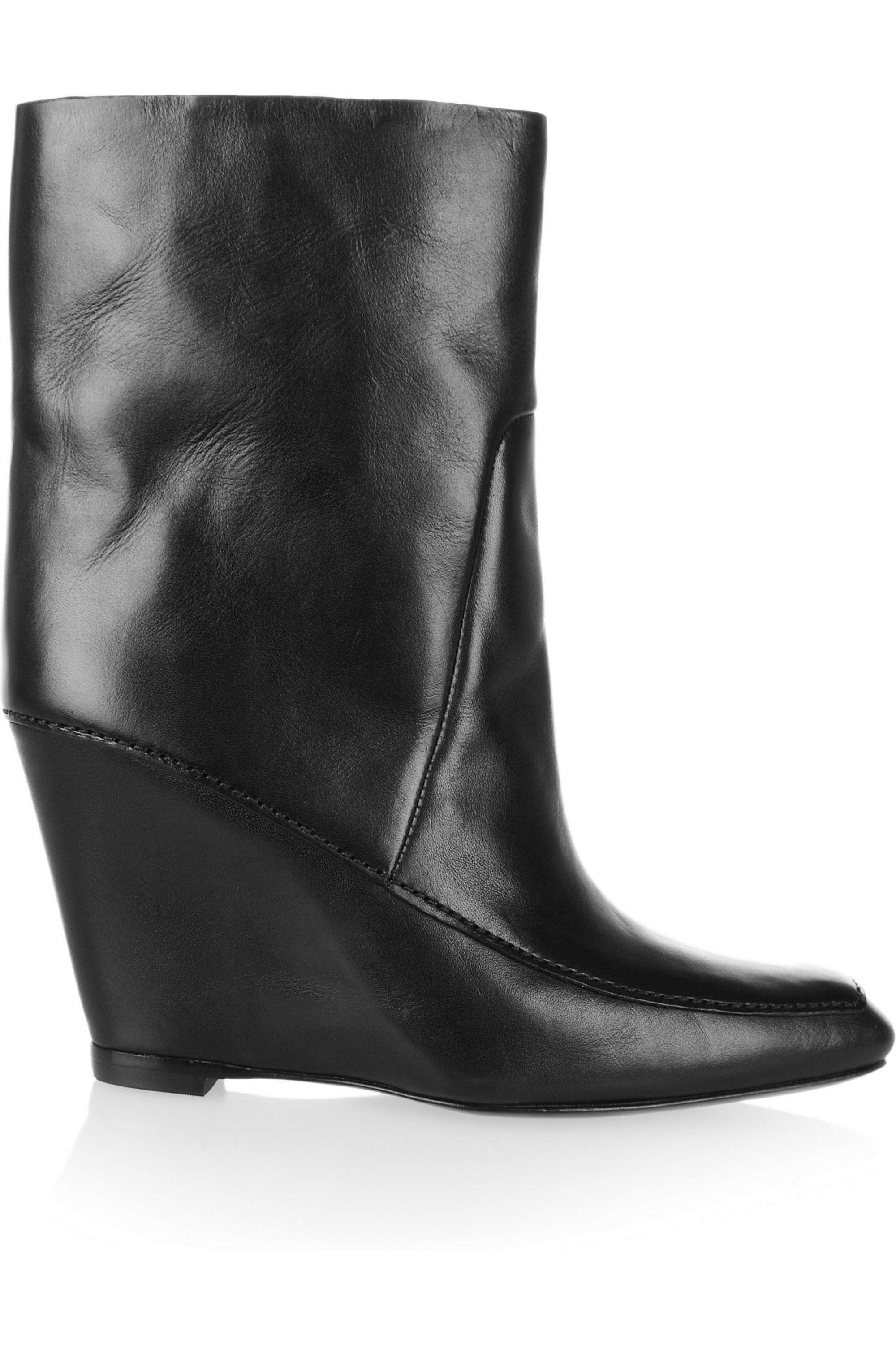 Alexander Wang Leather wedge ankle boots